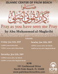 Weekend Seminar at ICPB: Pray as you have seen me Pray (Jan 11th – 13th, 2019)
