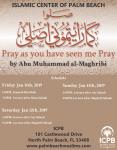 Weekend Seminar at ICPB: Pray as you have seen me Pray (Jan 11th – 13th, 2019)