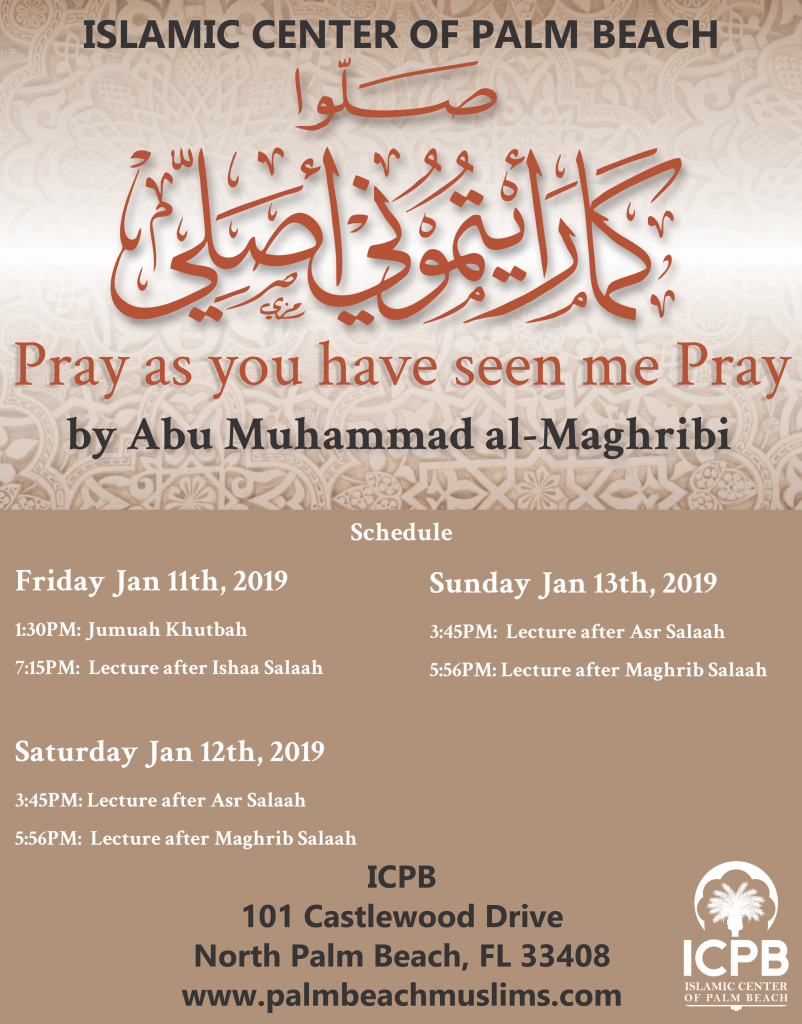 Pray as you have seen me pray - ICPB Winter 2019