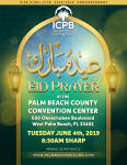 Eidul-Fitr Tuesday June 4th at Palm Beach County Convention Center 8:30AM
