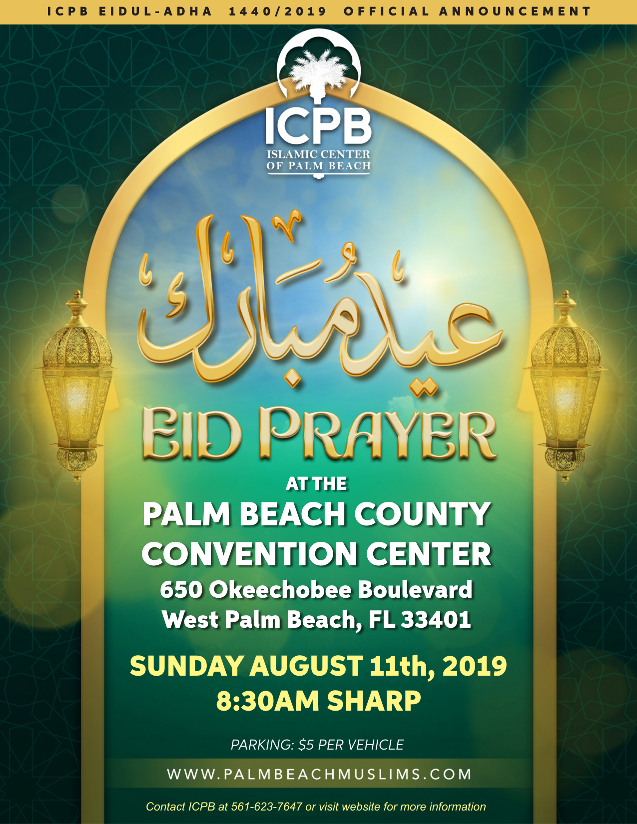 ICPB Eidul Adhaa 1440 2019 Official Announcement