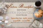 ICPB Jan 25th Sisters Breakfast: Tele-link with Shaykh Hasan Somali